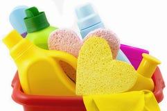 Mezzi per il lavaggio e pulire Fotografie Stock Libere da Diritti