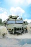 Mezzo corazzato per il trasporto delle truppe corazzato in acqua Immagini Stock Libere da Diritti