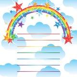 Mezzo effetto della carta di scintillio dell'arcobaleno royalty illustrazione gratis