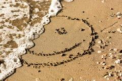 Mezzo fronte dello smiley Immagine Stock Libera da Diritti