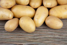 Mezzo legno della mezza patata Fotografie Stock
