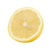 Mezzo limone isolato su fondo bianco Fotografie Stock Libere da Diritti