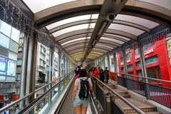 Mezzo livelli scala mobile, Hong Kong Island della centrale Fotografie Stock Libere da Diritti
