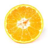 Mezzo mandarino della fetta Fotografia Stock