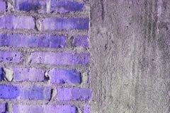 Mezzo muro di mattoni e mezza struttura concreta fotografie stock