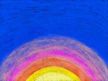 Mezzo Sun del Kiddie Fotografie Stock Libere da Diritti