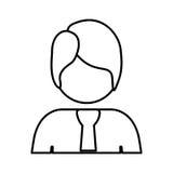 mezzo uomo del corpo di contorno con il vestito Fotografia Stock Libera da Diritti