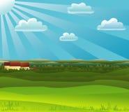 Mezzogiorno dell'azienda agricola Fotografia Stock Libera da Diritti