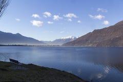 Mezzola湖  免版税库存图片