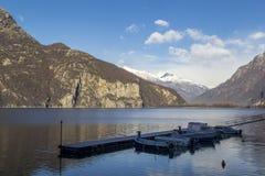 Mezzola湖  免版税库存照片