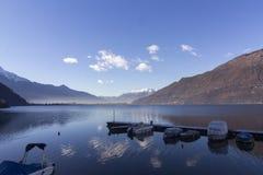 Mezzola湖  免版税图库摄影