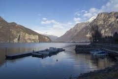 Mezzola湖  库存图片