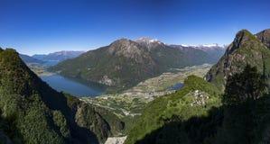 Mezzola Lake, Italy Royalty Free Stock Photography