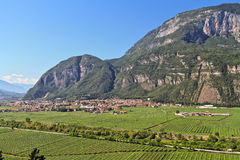Mezzolombardo and Adige valley royalty free stock images