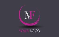 MF M F Letter Logo Design Photos stock