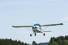 MFI-9 Junior trainer aircraft flying Royalty Free Stock Photo