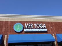 MFR Yoga Pain Solutions and Wellness Royalty Free Stock Photos