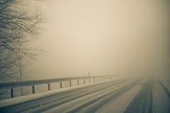 mgła śnieg Fotografia Stock