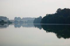 mgła krajobraz fotografia royalty free