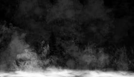 Mgła lub dym odizolowywaliśmy specjalnego skutek na podłodze Biały zachmurzenia, mgły lub smogu tło, ilustracja wektor