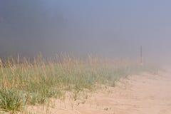 mgła na plaży Obrazy Royalty Free