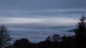 Mgła nad miasto zbiory wideo