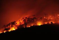 Mgła ogień Zdjęcia Royalty Free