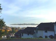 Mgła przy świtem fotografia royalty free