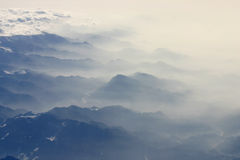 mgła się gór czarnych Obraz Royalty Free