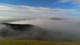 mgła się wzgórza Fotografia Royalty Free