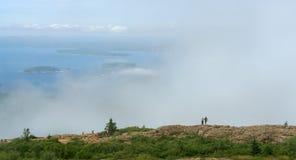 Mgła w Acadia parku narodowym zdjęcie royalty free