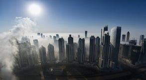 Mgła w Dubaj zdjęcie stock