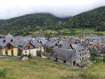 Mgła w Vall dAran obrazy royalty free