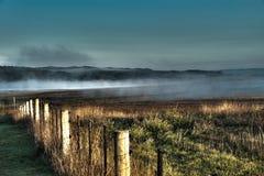 Mgła w wydrążeniach Zdjęcie Royalty Free