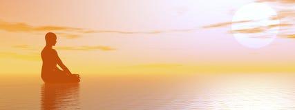 mgława medytacja ilustracja wektor