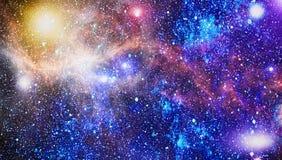 Mgławica i galaxies w przestrzeni Planeta i galaktyka - elementy ten wizerunek Meblujący NASA ilustracji