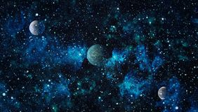 Mgławica i galaxies w przestrzeni Planeta i galaktyka - elementy ten wizerunek Meblujący NASA ilustracja wektor