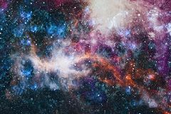 Mgławica i galaxies w przestrzeni Planeta i galaktyka - elementy ten wizerunek Meblujący NASA royalty ilustracja