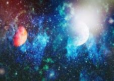 Mgławica i gwiazdy w kosmosie Elementy ten wizerunek meblujący NASA obrazy royalty free