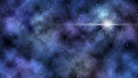 Mgławicy i Błyszczące gwiazdy w Głębokiej przestrzeni zdjęcie royalty free