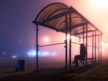 Mgłowy śródnocny Kijów Zdjęcie Stock