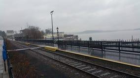 Mgłowy boardwalk Zdjęcia Stock