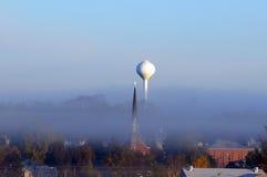 mgłowy jesień miasteczko Obrazy Royalty Free