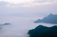 Mgłowy krajobraz Obraz Royalty Free