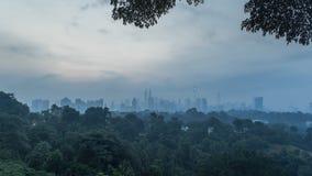 Mgłowy Kuala Lumpur zdjęcie wideo