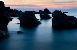 mgłowy morze fotografia royalty free