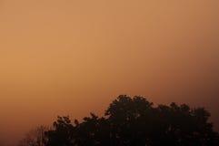 Mgłowy niebo Obrazy Royalty Free