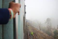 Mgłowy pociąg zdjęcie stock