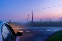 mgłowy rozdroże zdjęcie stock