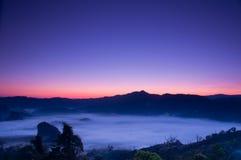mgły ranek światło słoneczne Fotografia Royalty Free